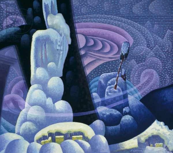Composition 7 - —Snow, 1928 (oil on canvas)