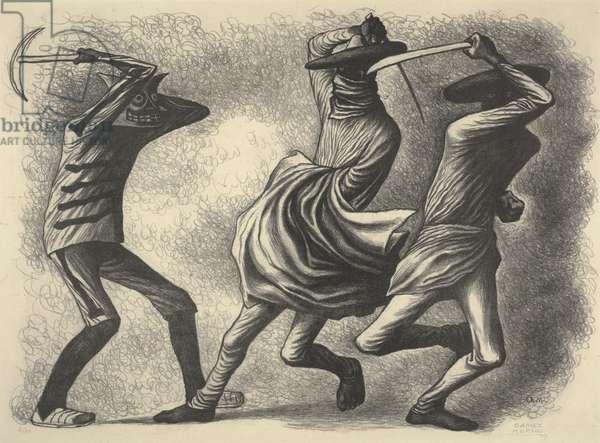 Dance of the Machetes, 1939 (litho)