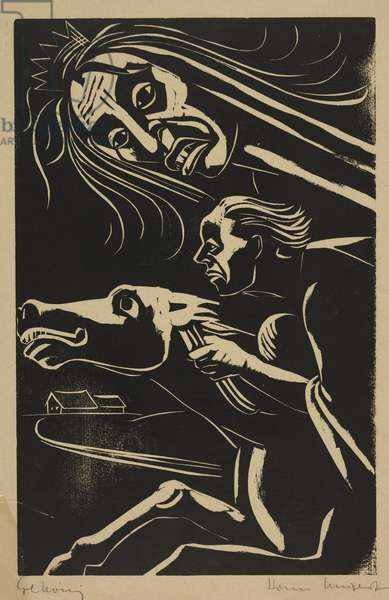 Erlkonig (woodblock print)