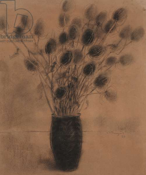 Untitled, 1954 (charcoal on paper)