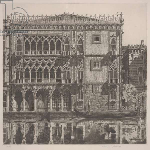 Venetian Filigree, 1931 (etching)