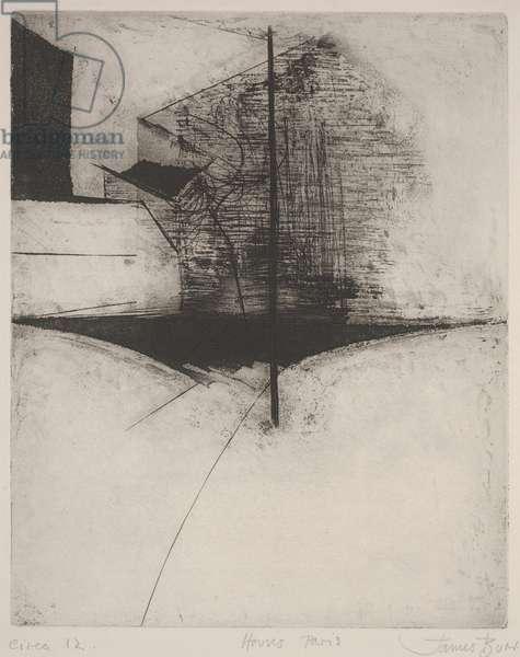 Houses - Paris (etching)