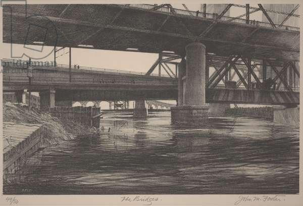 The Bridges, c.1933-1934 (lithograph)