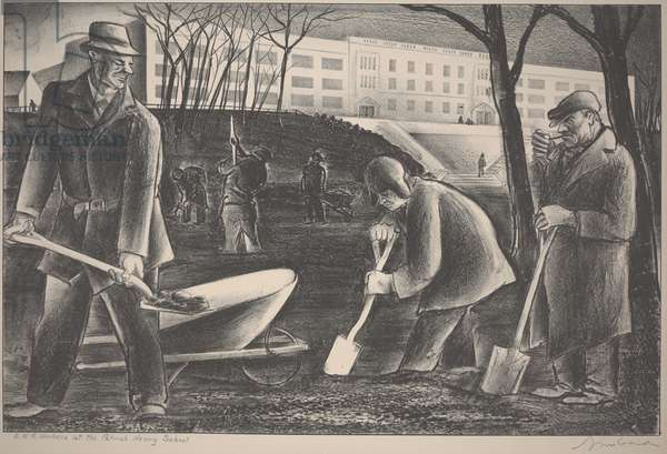 C.W.A. Workers at the Patrick Henry School, c.1933-1934 (lithograph)