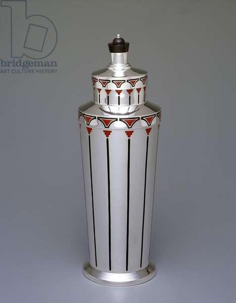 Cocktail shaker, 1928 (enameled silver)