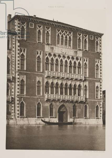 Foscari Palace, 1891 (photogravure)