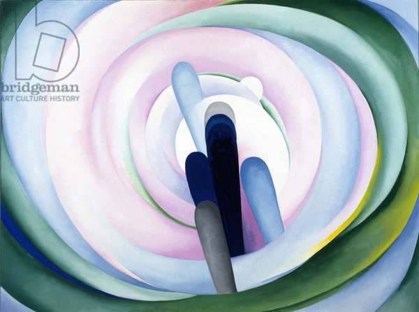 Grey Blue & Black— Pink Circle, 1929 (oil on canvas)