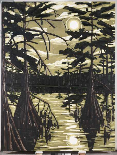 Catfish Moon, 1986 (oil on canvas)
