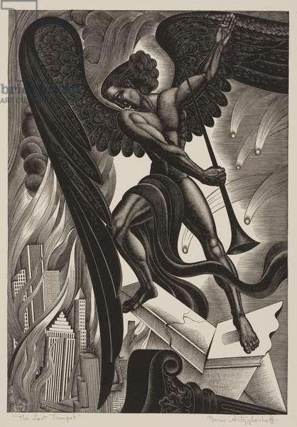 The Last Trumpet, 1937 (wood engraving)