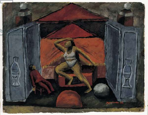 Tightrope Walker (Equilibrista), 1932 (gouache on paper)