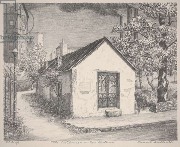 The Cos House in San Antonio, c.1935-1938 (lithograph)