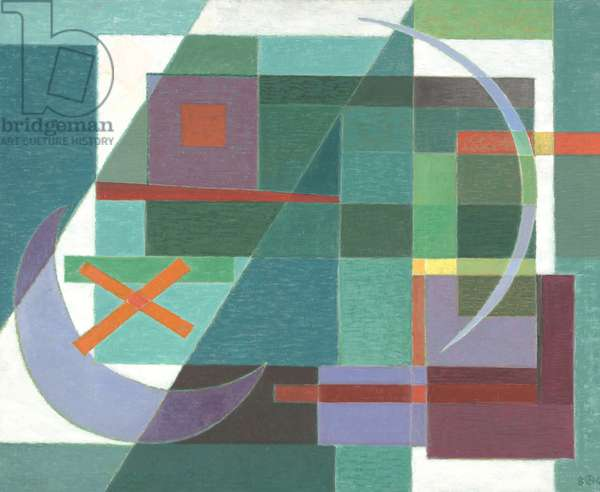 Projection in Green/Waxing and Waning Moon, 1980 (oil on canvas)
