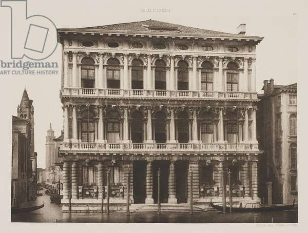 Rezzonico Palace, 1891 (photogravure)