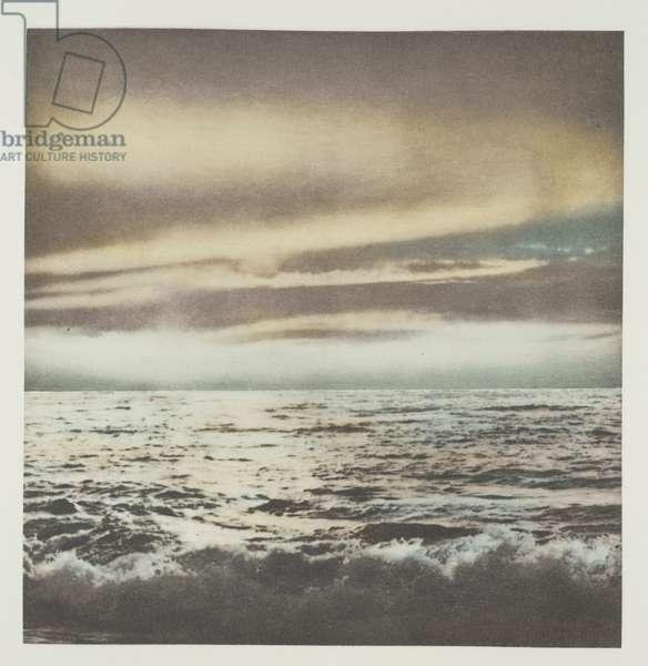 Ocean (Seelandschaft), 1971 (multicoloured heliogravure on ivory rag paper)