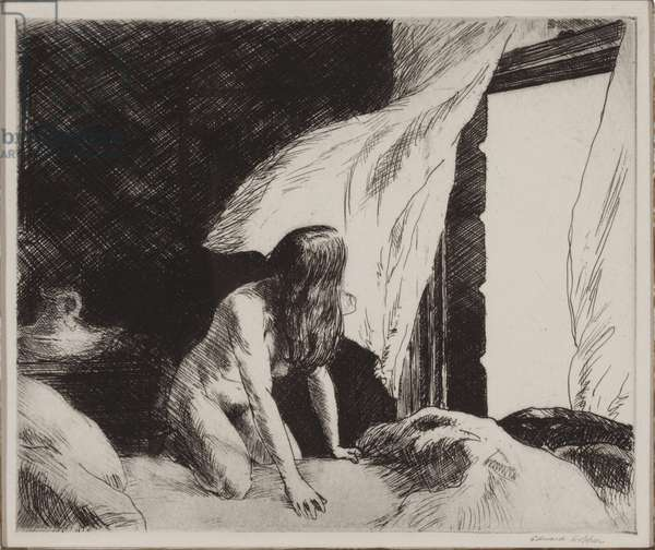 Evening Wind, 1921 (etching)