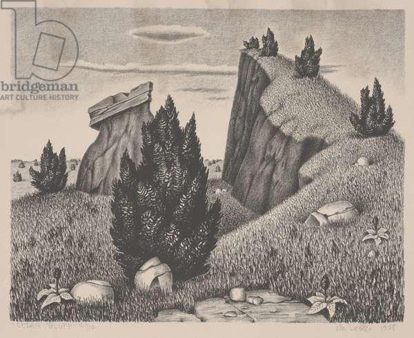 Cedar Bluff, 1938 (litho)
