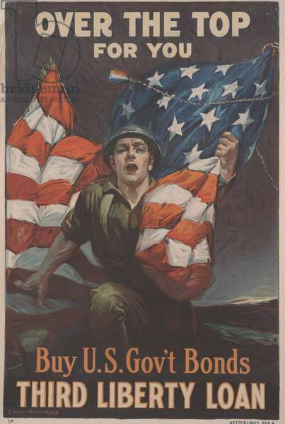 Over the Top for You, Buy U. S. Gov't Bonds, Third Liberty Loan, 1918 (colour litho)