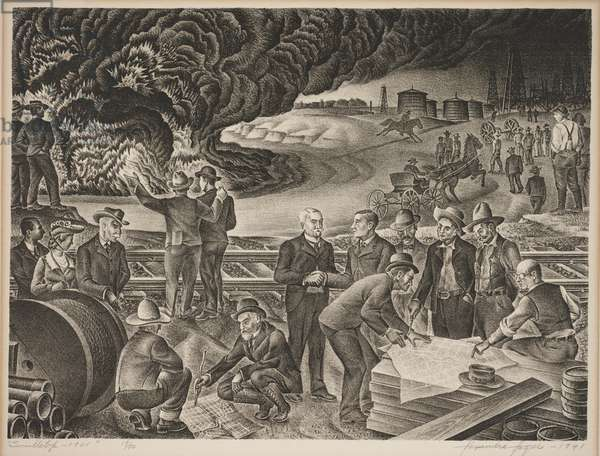 Swindletop - 1901, 1941 (litho)