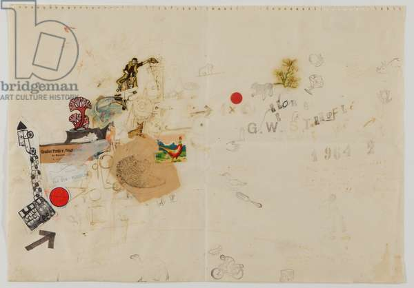 Christmas Letter, 1964 (collage & ink on paper)