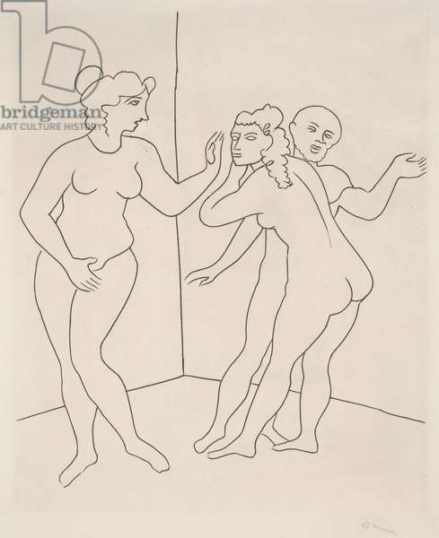 Three Nudes, 1934 (engraving)