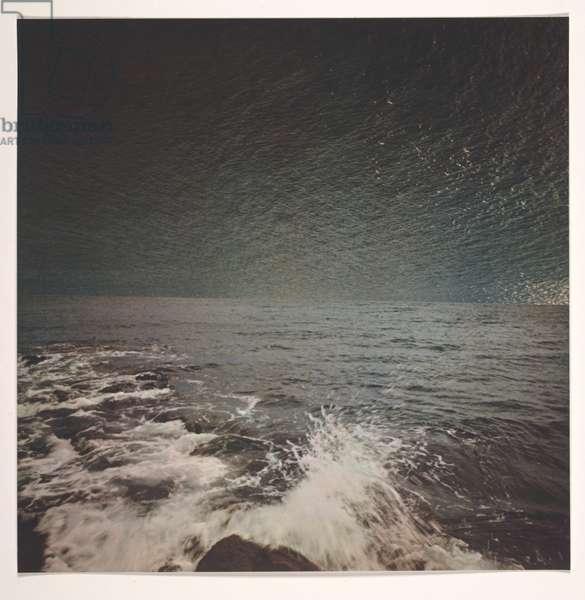 Sea (Meer), 1972 (colour offset print on white lightweight cardboard)