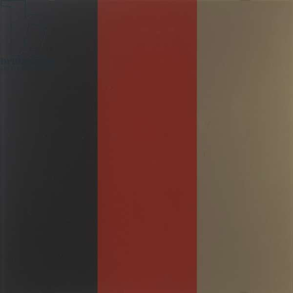 Black, Red, Gold III (Schwarz, Rot, Gold III), 1999 (synthetic resin paint behind glass)