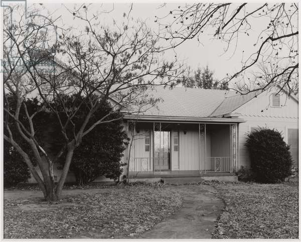 Front entrance of my parents' home, Wenonah and Kessler, Wichita Falls, Texas, 1978, printed 2008 (gelatin silver print)