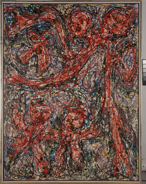 Red Family, 1951 (oil and enamel on canvas)
