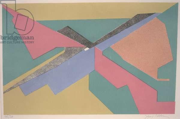 Coursier I, 1958 (colour litho)