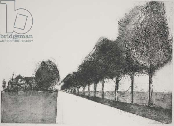 The Road South (etching)