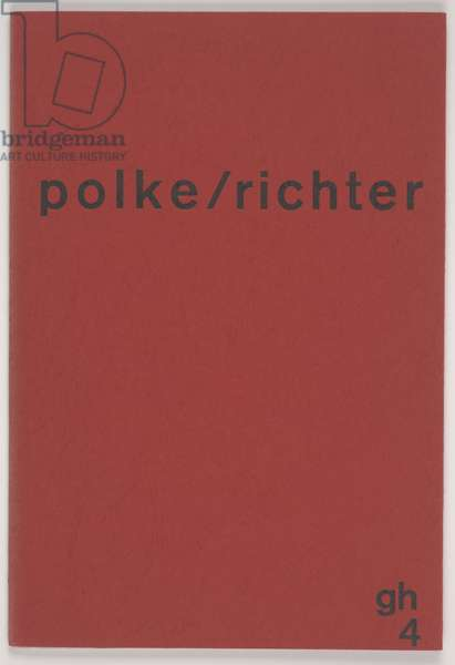 Polke/Richter, 1966 (paper, ink, cardboard & staples)