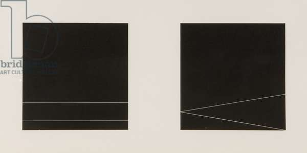 Paired Squares, 1988 (charcoal on paper)