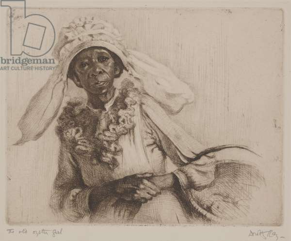 The Old Oyster Girl (etching)
