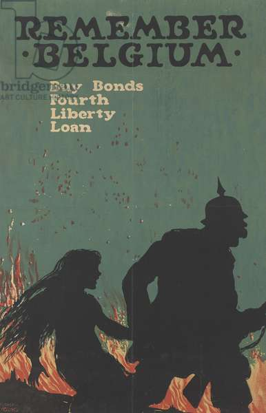 Remember Belgium, Buy Bonds, Fourth Liberty Loan, c.1918 (colour litho)