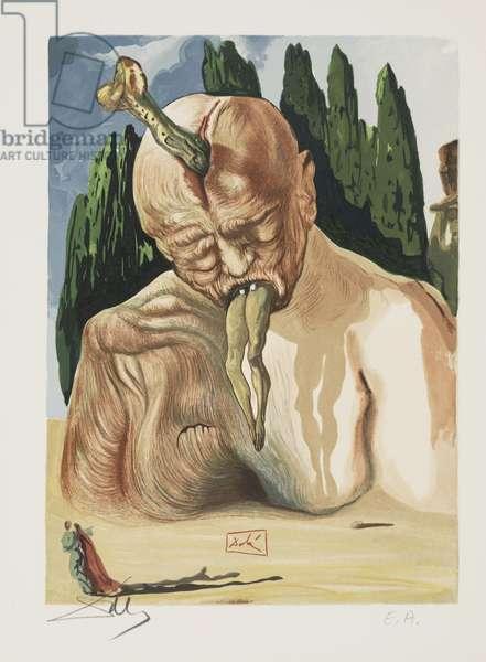 Canto 27 - A Devil Logician, c.1960 (woodcut)