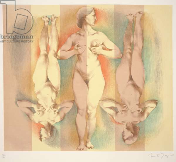 Nude Woman: Smyrna, in the Apotheosis of Homer (after Ingres), 1966 (litho & serigraph)