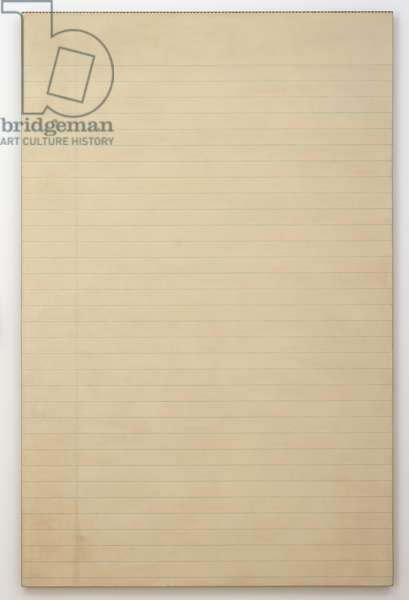 Legal Pad Sheet, 1967 (spray lacquer and stencil on linen)