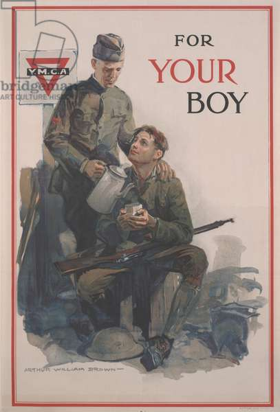 For Your Boy, United War Work Campaign, November 11-18, 1918, 1918 (colour offset litho)