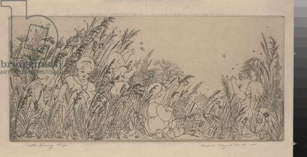 Little Growing Things, 1934 (etching)