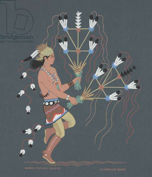 Navajo Feather Dancer, mid 20th century (silkscreen)