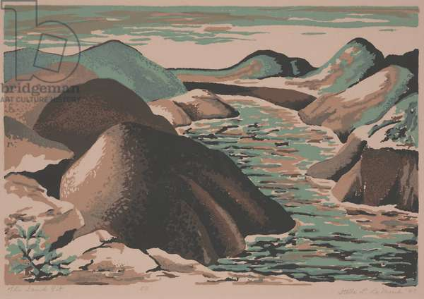 The Sand Pit, 1947 (serigraph)