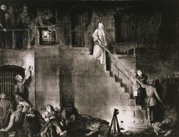The Murder of Edith Cavell, 1918 (lithograph)