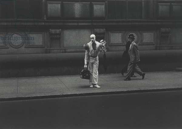 Clown, Philadelphia, negative 1966, print 1975 (gelatin silver print)