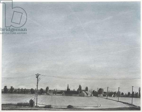 Boissy-sans-Avoir, 2007 (powdered pigment, charcoal, conté, and ink on paper)