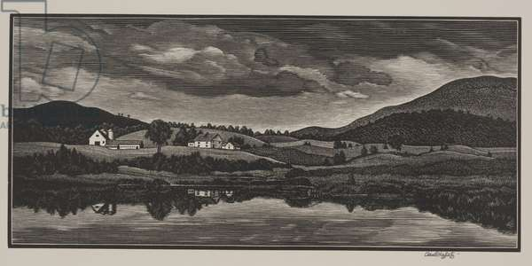 Pastorale, Vermont, 1942 or 1943 (wood engraving)