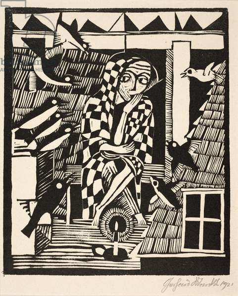 The Owl (Die Eule), 1921 (woodcut)