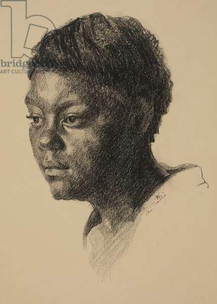 Head, c.1930 (lithographic crayon)