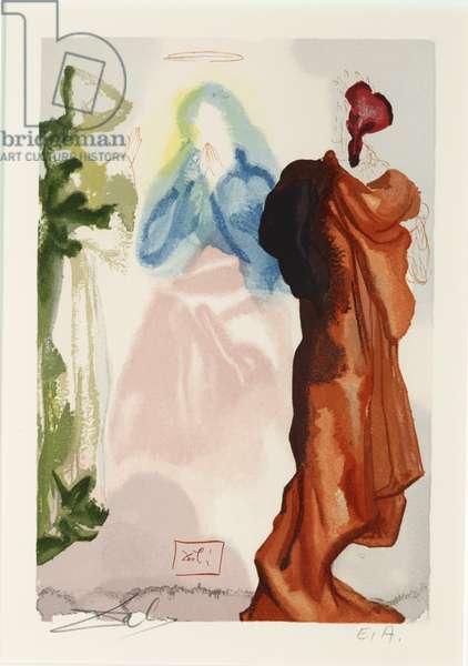Canto 100 - Saint Bernard's Prayer, c.1960 (woodcut)