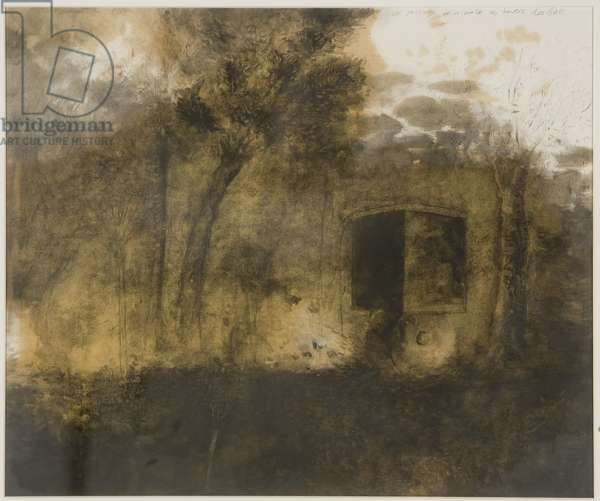 A Passage through the Woods (Un passage minimale au travers les bois), 1988 (graphite and linseed oil on paper)
