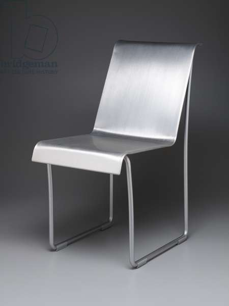 """Superlight"" chair, designed 2004 (brushed & anodized aluminium)"